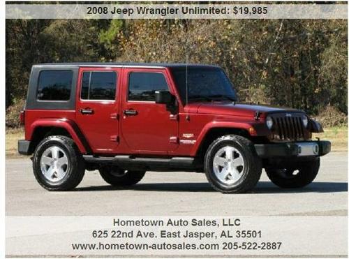 2007 jeep wrangler unlimited sahara for sale in gadsden alabama. Black Bedroom Furniture Sets. Home Design Ideas
