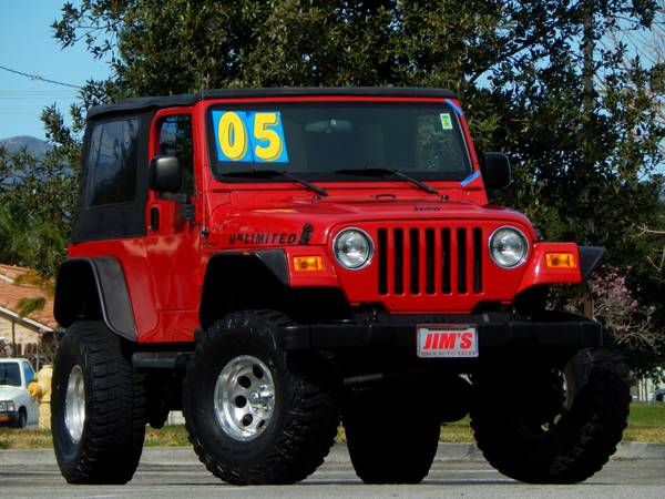 2005 jeep wrangler unlimited for sale in inland empire ca. Black Bedroom Furniture Sets. Home Design Ideas