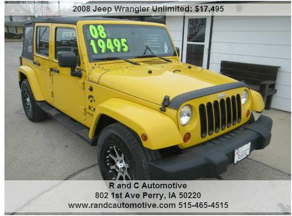 2008 jeep wrangler unlimited x for sale in perry ia. Black Bedroom Furniture Sets. Home Design Ideas