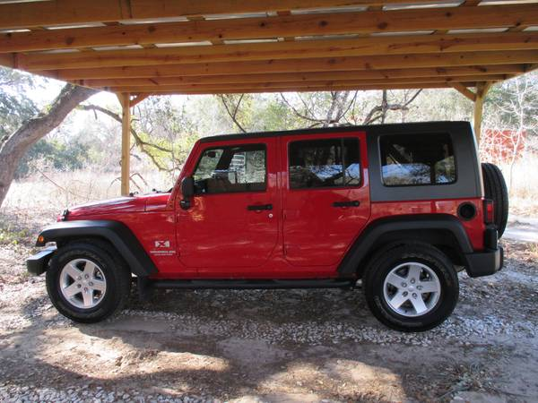 2008 jeep wrangler unlimited x for sale in san antonio tx. Black Bedroom Furniture Sets. Home Design Ideas