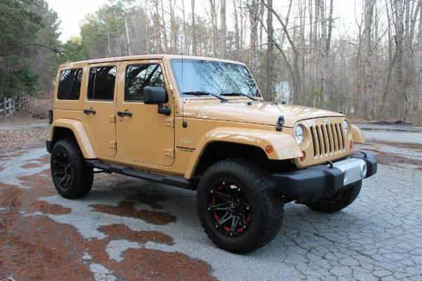 2013 jeep wrangler unlimited sahara for sale in atlanta ga. Black Bedroom Furniture Sets. Home Design Ideas