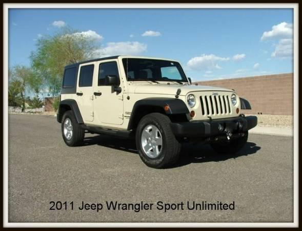 2011 jeep wrangler unlimited sport for sale in surprise az. Black Bedroom Furniture Sets. Home Design Ideas