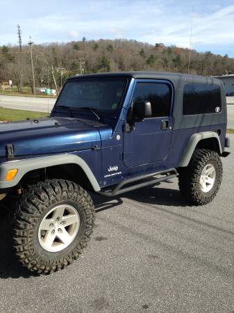 2004 jeep wrangler unlimited for sale in candler north. Black Bedroom Furniture Sets. Home Design Ideas